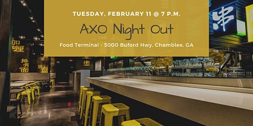 AXO Night Out at Food Terminal in Chamblee