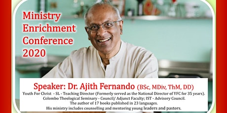 Ministry Enrichment Conference2020-Dr.Ajith Fernando_At Tyndale Seminary tickets
