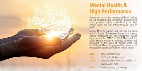Mental Health & High Performance tickets