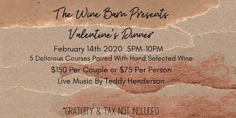The Wine Barn Valentine's Prix-Fixe tickets