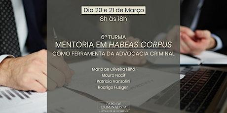 6ª Turma  Mentoria em Habeas Corpus como Ferramenta da Advocacia Criminal ingressos