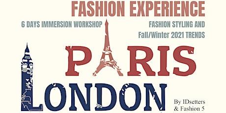 FASHION EXPERIENCE: PARIS (AT PARIS FASHION WEEK) + LONDRES  ingressos