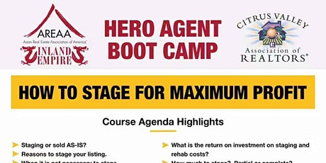 Hero Agent Boot Camp - How to Stage for Maximum Profit tickets