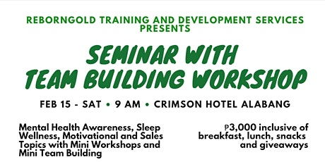 Mental Awareness, Sleep Wellness, Motivational and Sales Seminar in one day tickets