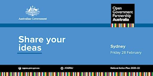 Open Government Workshop 1 - Sydney