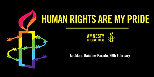 Come to Auckland Rainbow Parade with Amnesty International