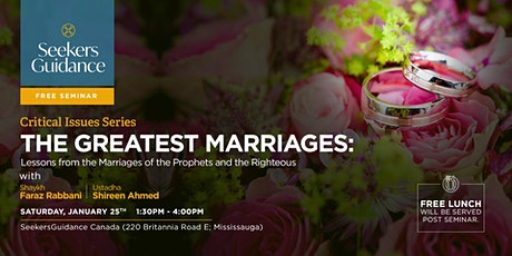 The Greatest Marriages: Lessons from  the Prophets and the Righteous tickets