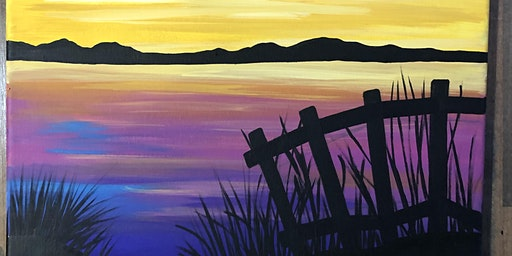 Lakeside Sunset  Painting Class  at Methven Vineyards
