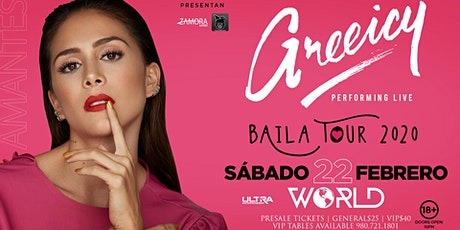 Greeicy Live at World Nightclub Charlotte, NC! | Baila Tour 2020 tickets