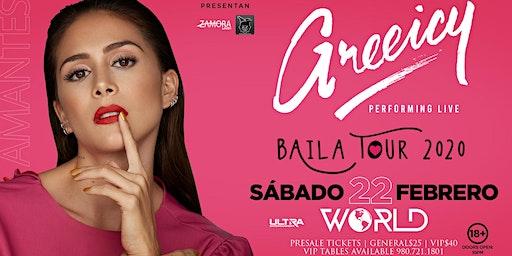 Greeicy Live at World Nightclub Charlotte, NC! | Baila Tour 2020