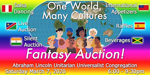 "Fantasy Auction 2020: ""One World, Many Cultures"""