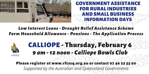 Calliope Government Assistance Information Day