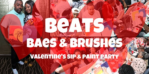Beats, Baes, Brushes Cincinnati: Valentine's Sip & Paint Party- February 14