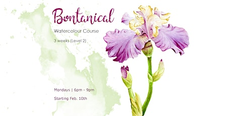 Botanical Watercolour Course (Level 2) -  3-Weeks tickets