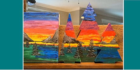 Mountain Scene on trees or Canvas @ Ranchers tickets