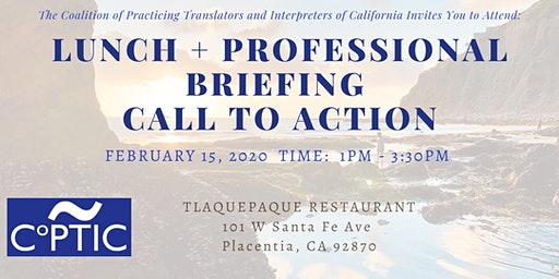 Lunch + Professional Briefing and Call to Action - Orange County