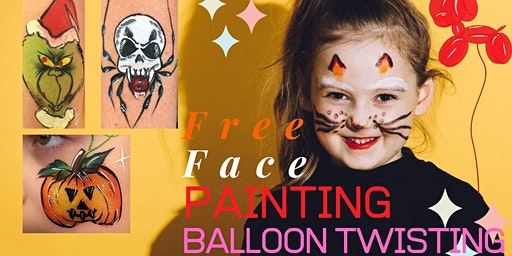 FREE Face Painting & Balloon Twisting - Swan Settlers Market - Book Now
