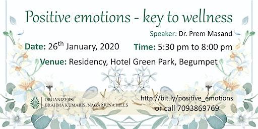 Positive emotions - key to wellness