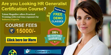 HR Generalist with SAP HR/HCM Certification Training Course, Fees Rs. 15000 tickets