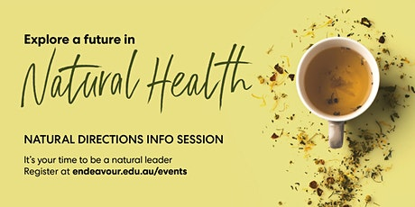 Natural Directions Info Sessions - Adelaide - 6th February 2020 tickets