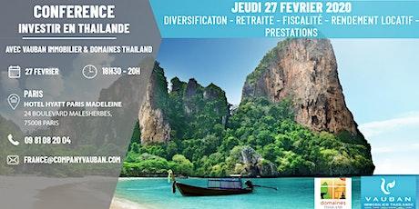 Conférence Investir en Thaïlande - Paris le 27 Février billets