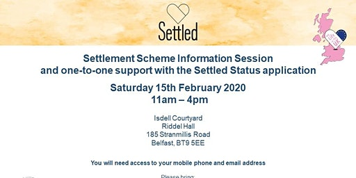 Settlement Scheme Information Session in Belfast