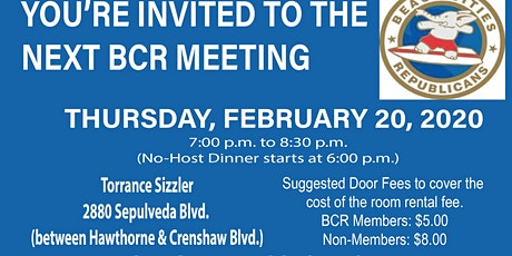 Beach Cities Rpublicans Monthly Meeting - 2/20/20 tickets