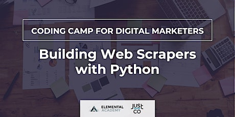 Coding Camp for Digital Marketers: Building Web Scrapers with Python tickets