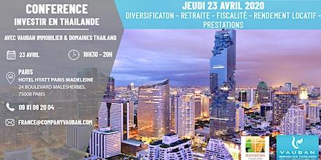 Conférence Investir en Thaïlande - Paris le 23 Avril billets