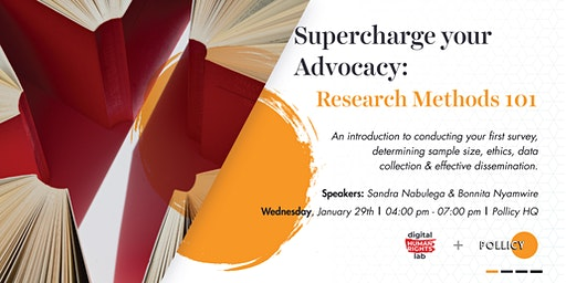 Super Charge Your Advocacy: Research Methods 101