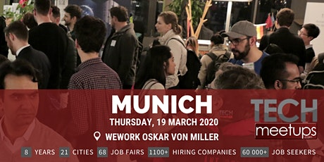 Munich Tech Job Fair Spring 2020 by Techmeetups tickets
