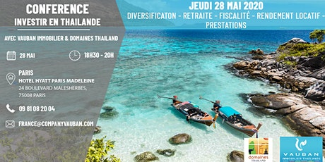 Conférence Investir en Thaïlande - Paris le 28 Mai billets