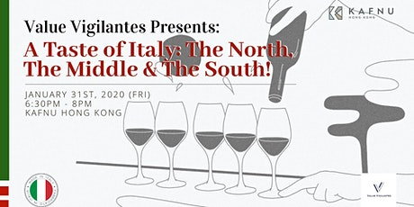 A Taste of Italy: The North, The Middle & The South! tickets