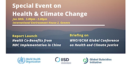 Special Event on Health & Climate Change tickets