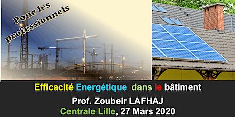 Formation professionnelle: efficacité énergétique du bâtiment billets