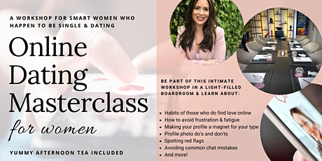 Online Dating Masterclass for Women: Finding love online in 2020 tickets