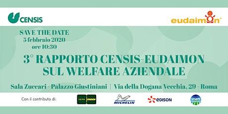 3° Rapporto Censis-Eudaimon sul Welfare Aziendale biglietti