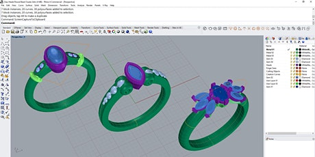 BAJ CAD Short Course Taster Day - Rhino CAD for Jewellery tickets