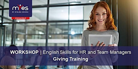 English Skills for HR and Team Managers - GIVING TRAINING biglietti
