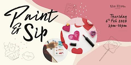 Paint & Sip: Valentine's Day tickets