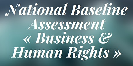 """National Baseline Assessment """"Business & Human Rights"""" tickets"""