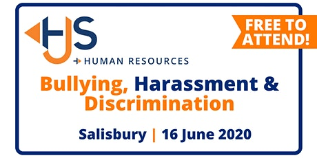 "FREE HR Seminar ""Bullying, Harassment & Discrimination"" from HJS Human Resources in Salisbury tickets"