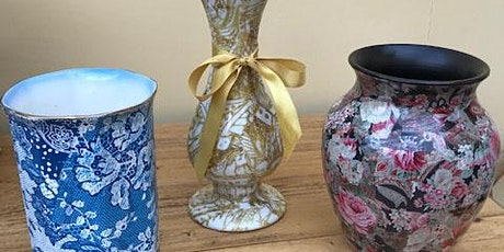 Upcycle with decoupage with Kate Wright tickets