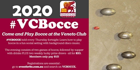#VCBOCCE -  2020 tickets