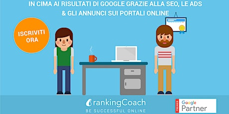 Workshop Web Marketing a Milano: SEO, Google ads, directory locali biglietti