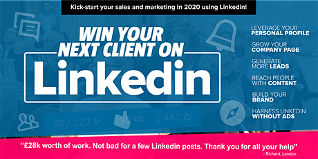 Win your next client on LinkedIn MILTON KEYNES Grow your business LinkedIn tickets