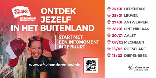 Oriënterend Gesprek op de regionale AFS-infoavond in Herentals