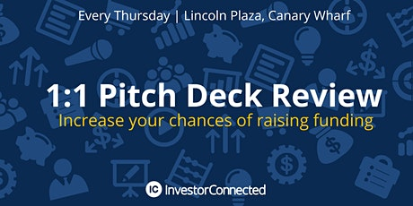 FREE Pitch Deck Review - Increase your chances of attracting investment tickets