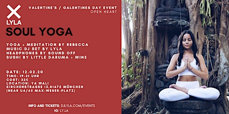 LYLA Soul Yoga Valentine's Day Sushi Event w DJ and Wine at Ya Wali <3 Tickets