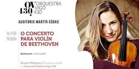 O Concerto para violín de Beethoven bilhetes